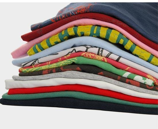 stacked t shirts
